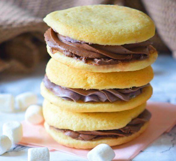 Hot Chocolate Marshmallow Cookies #chocolatemarshmallowcookies