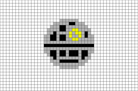 Death Star Pixel Art In 2021 Pixel Art Pixel Art Design Art