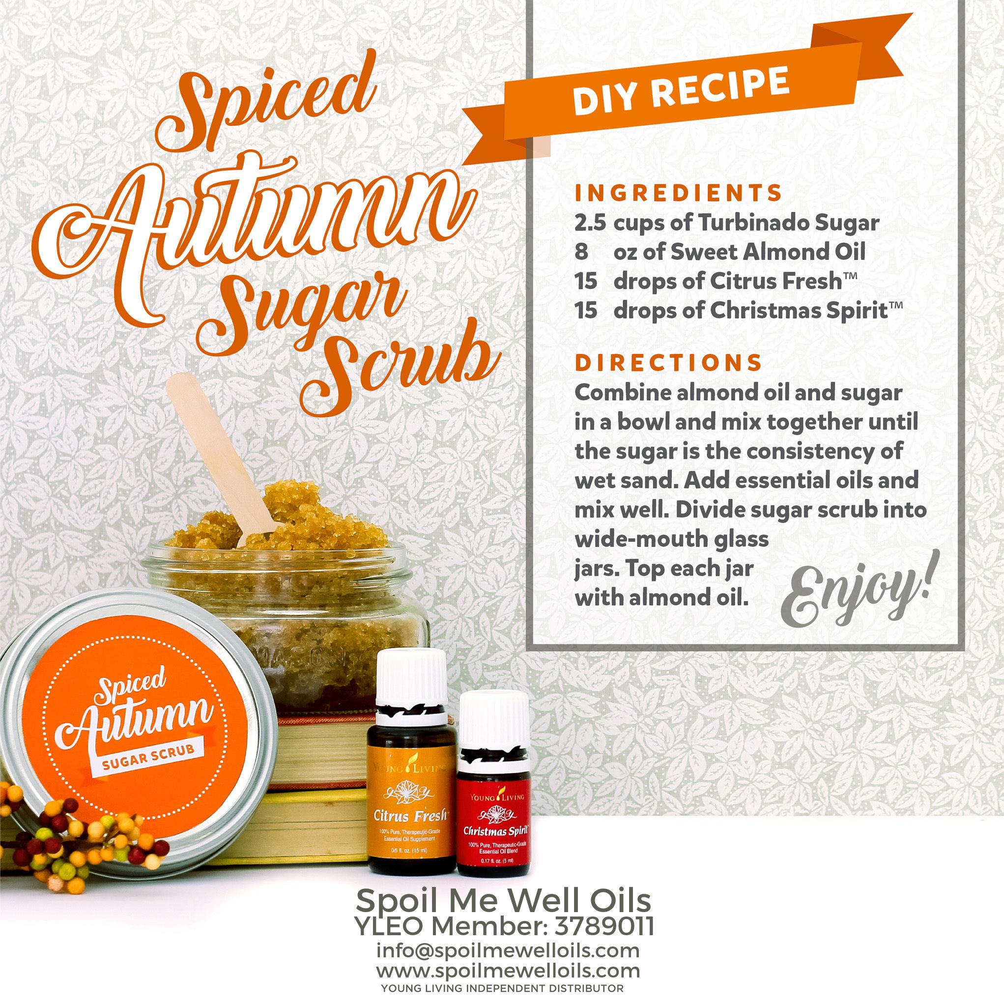 Spiced Autumn Sugar Scrub DIY Recipehow to diffuse ...