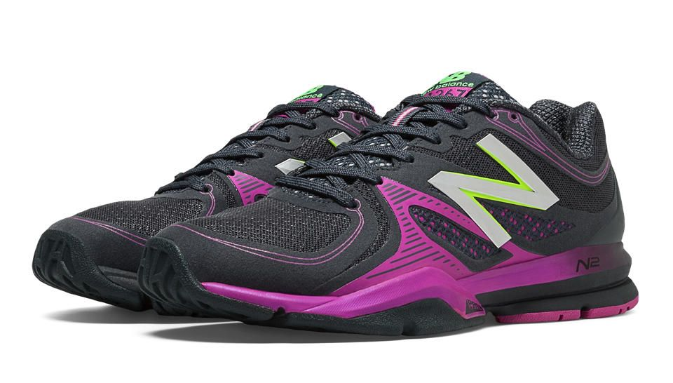 New Balance 1267 Black With Purple Cactus Flower Cross Training