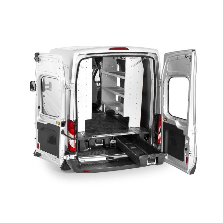 Decked Decked Storage System For Ford Transit Cargo Van 2014 Current Excludes Extended Model 148 In Wheel Base Lowes Com Ford Transit Cargo Van Van Storage