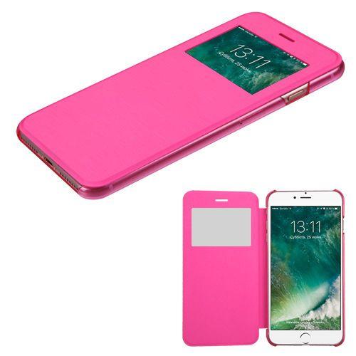 Apple iPhone 7 8 Flip Leather Wallet View Screen Case Window Slim ...