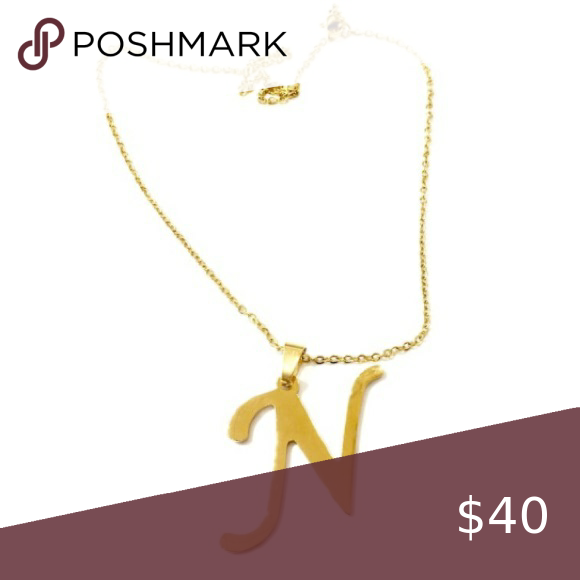 10 Inch Gold Stainless Steel Initial N Necklace Womens Jewelry Necklace Dainty Jewelry Necklace Dainty Jewelry
