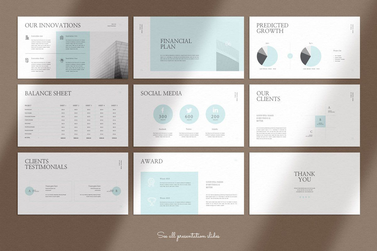 Business Plan Keynote Presentation in 2020 Brochure