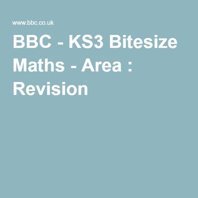 BBC - KS3 Bitesize Maths - Area : Revision | Area, Perimeter, Volume ...