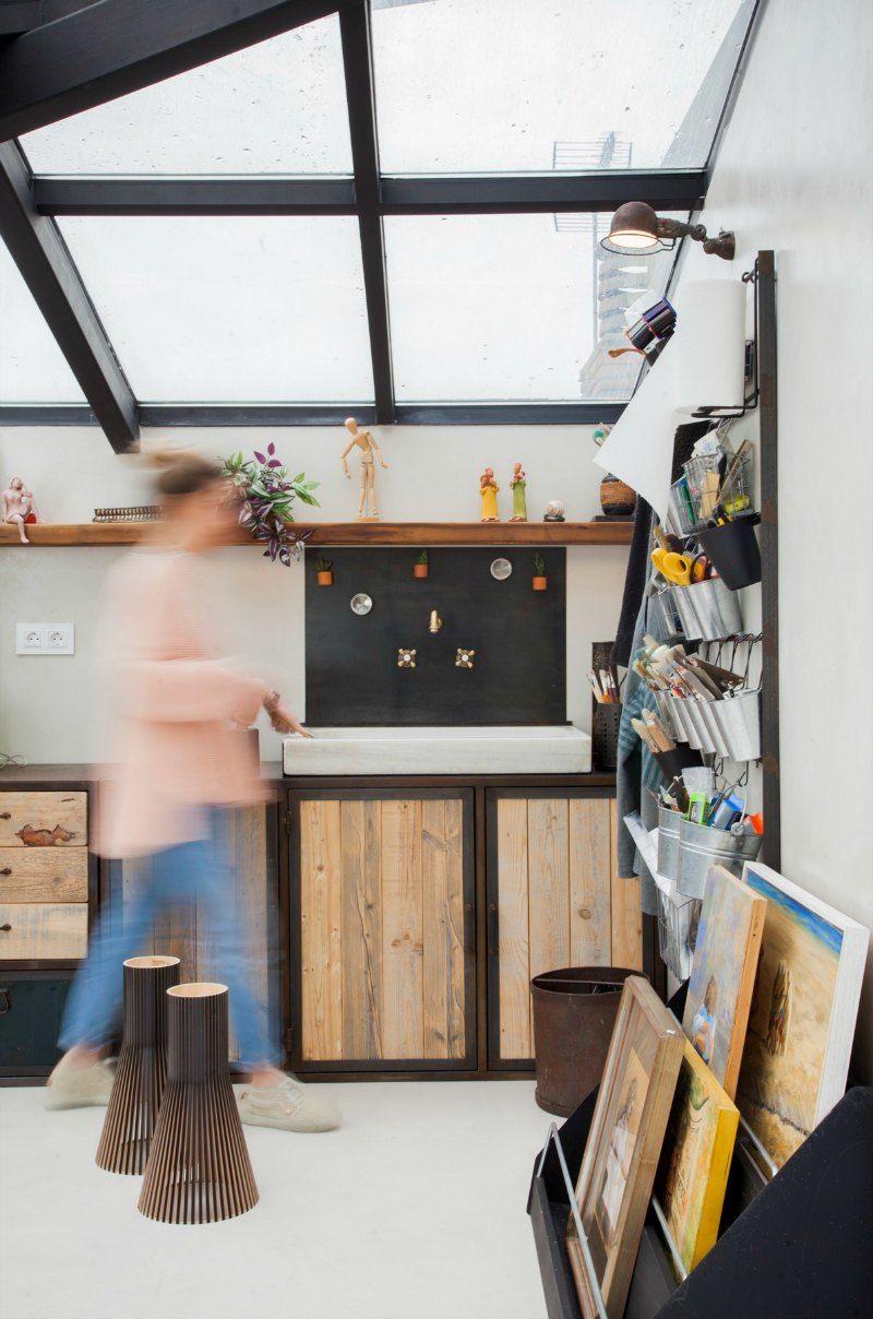 Taller de un pintor espacios de trabajo bonitos estudio for Estudios de interiorismo barcelona