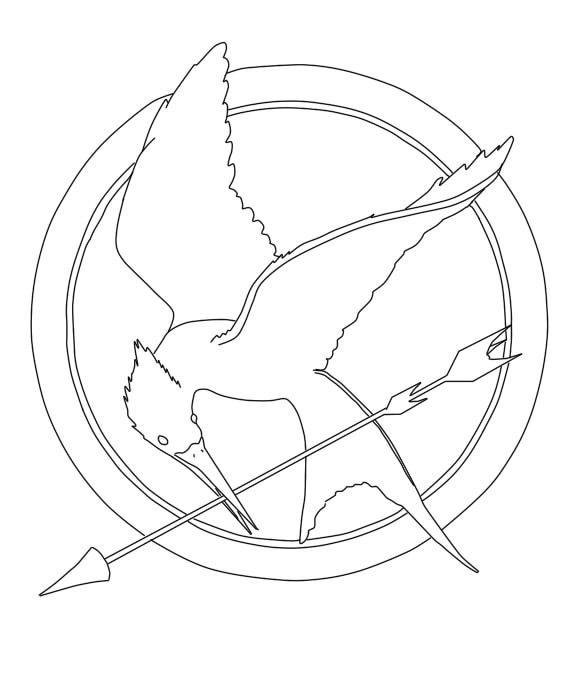 Daily Creativity: MockingJayNIMLAS Studios |Hunger Games Mockingjay Pin Outline