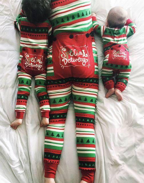 Family Christmas Pajamas Flapjacks Special Delivery Christmas