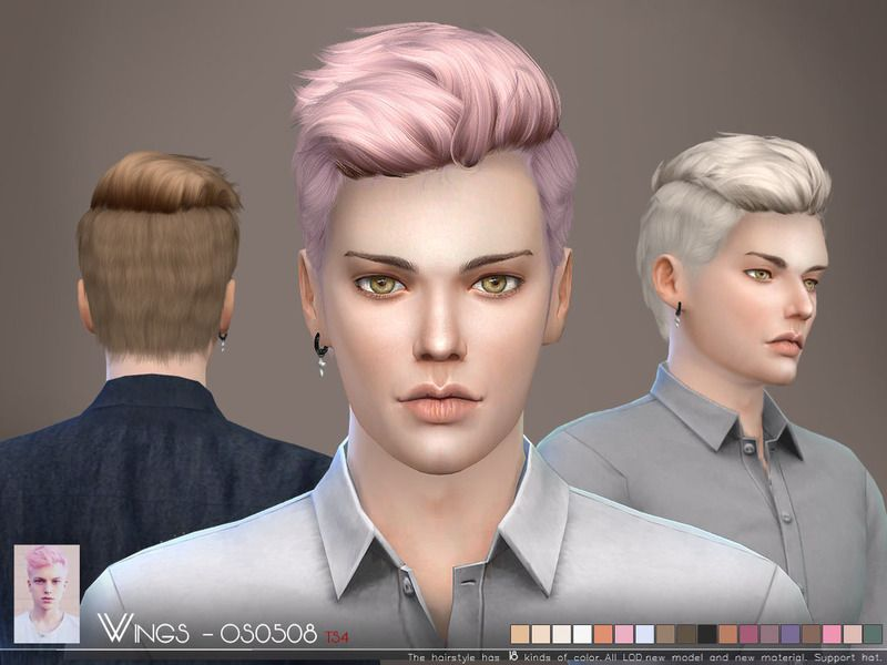 This Hair Style Has 18 Kinds Of Color Found In Tsr Category Sims 4