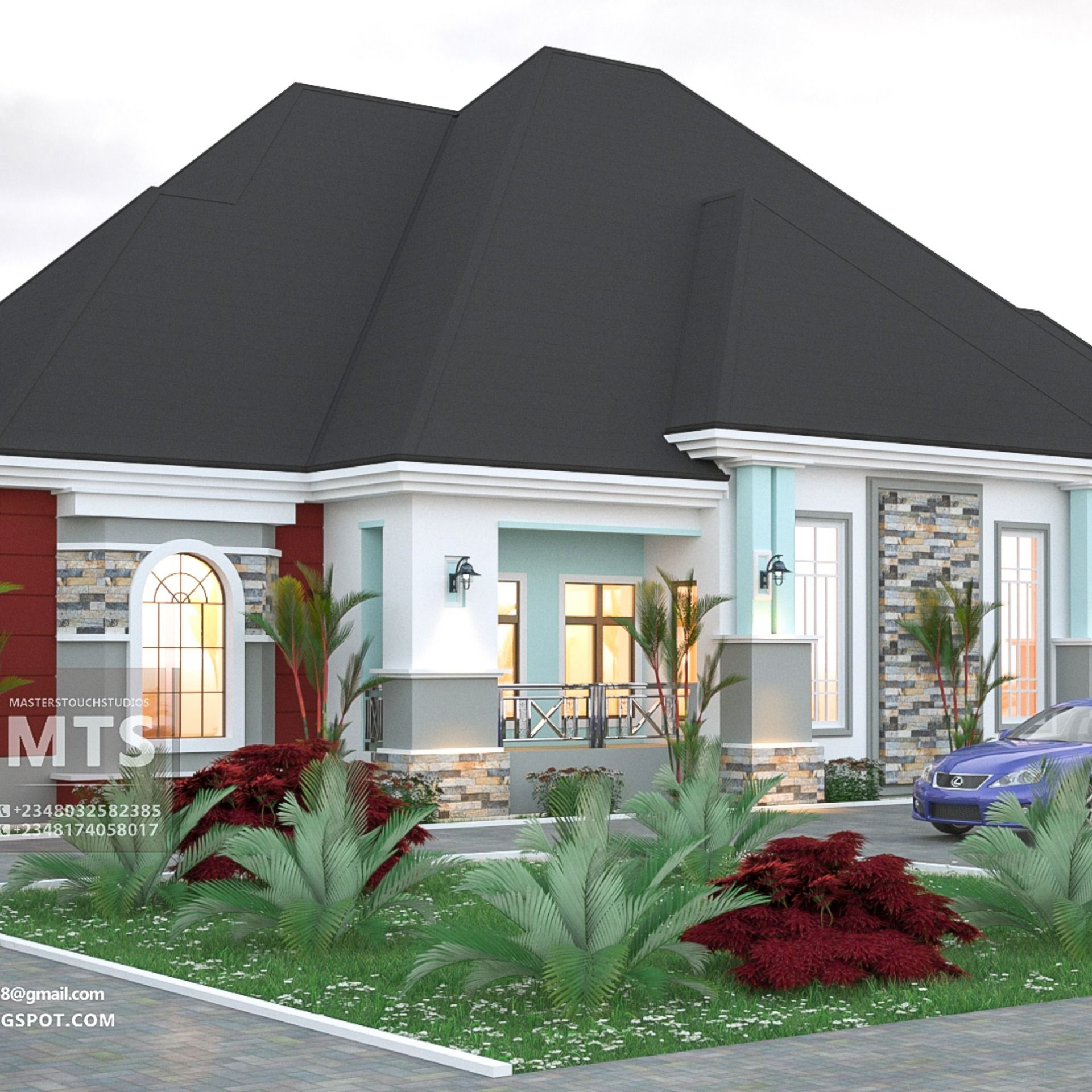 4 Bedroom Bungalow Rf 4015 Bungalow House Design House Plans Mansion House Plan Gallery