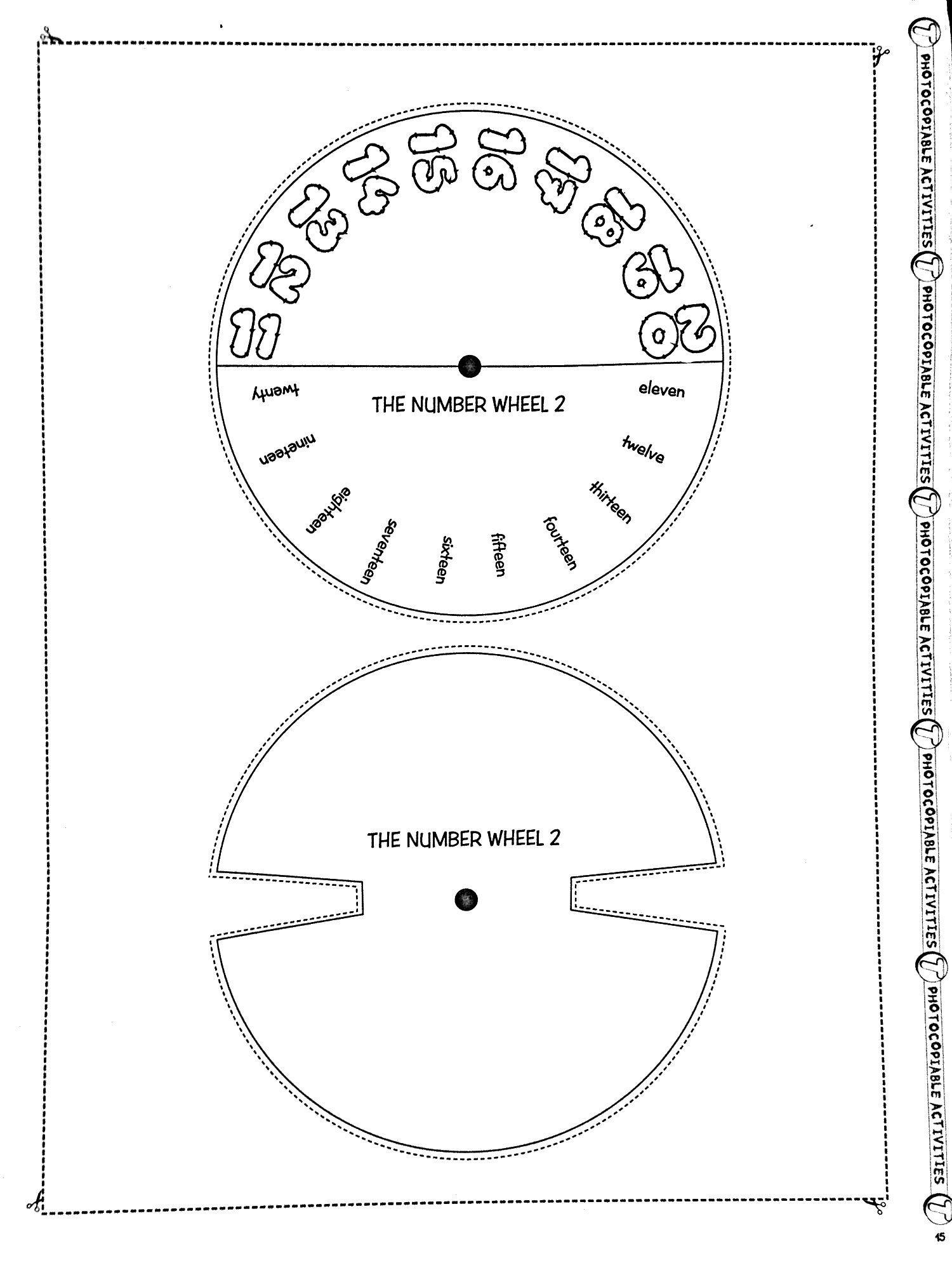 Spinning Wheel Numbers 11 20