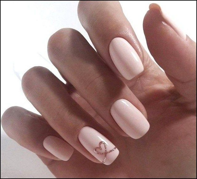 138 Amazing Natural Summer Square Nails Design For Short Nails Page 20 Homeinspirationss Com Nail Designs Valentines Heart Nail Designs Heart Nails