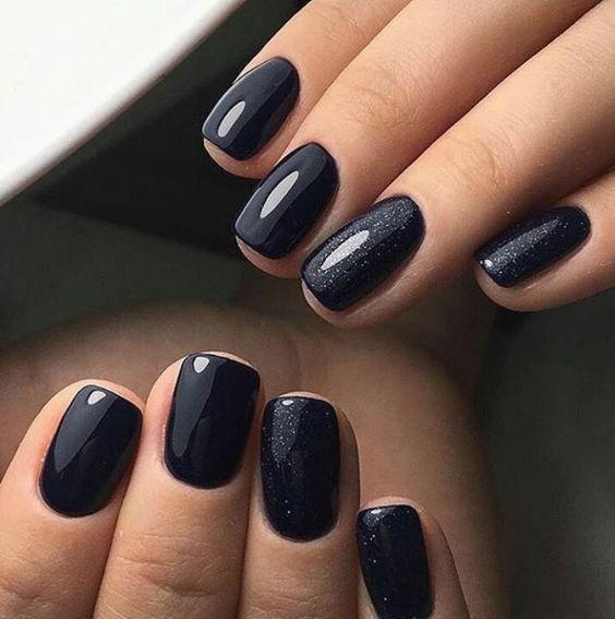 Photo of 20 firkantede negler sølvblå tips