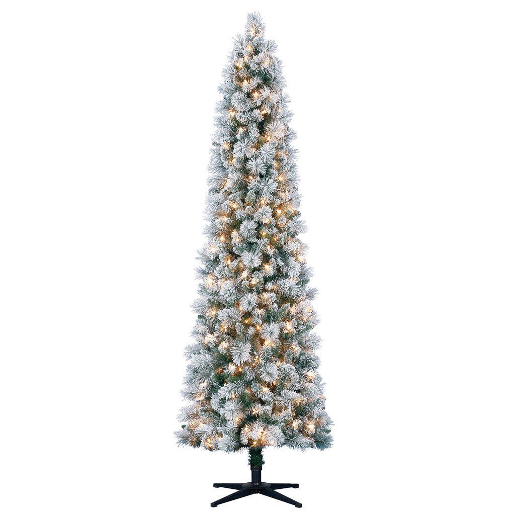 7ft Pre Lit Artificial Slim Christmas Tree Clear Lights By Ashland Slim Christmas Tree Pencil Christmas Tree Slim Artificial Christmas Trees Pre lit slim christmas tree