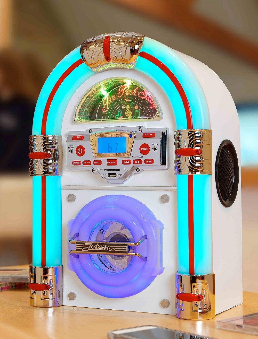 Jive Rock Sixty Bluetooth Mini Jukebox in 2 colours with