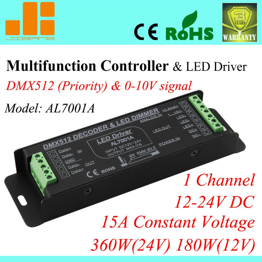 Free Shipping Top Selling Multifunctional Pwm Driver Dmx Dimmable Drive 0 10v Dimmable 1ch Led Driver 15a 380w Pn Al7001a Led Drivers Led Dmx