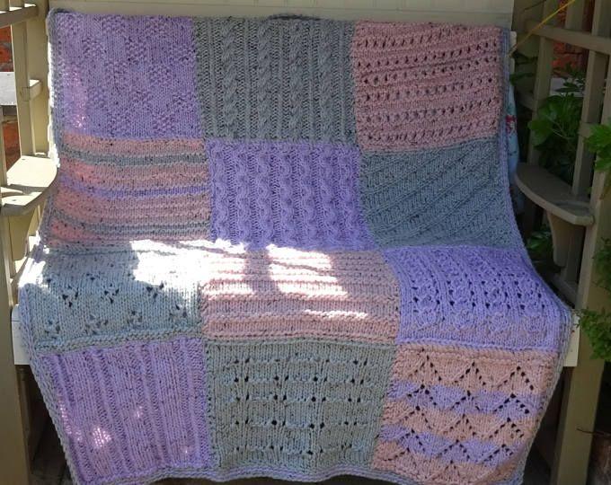 Extra Large Chunky Afghan - Beginner Crochet PATTERN 50\