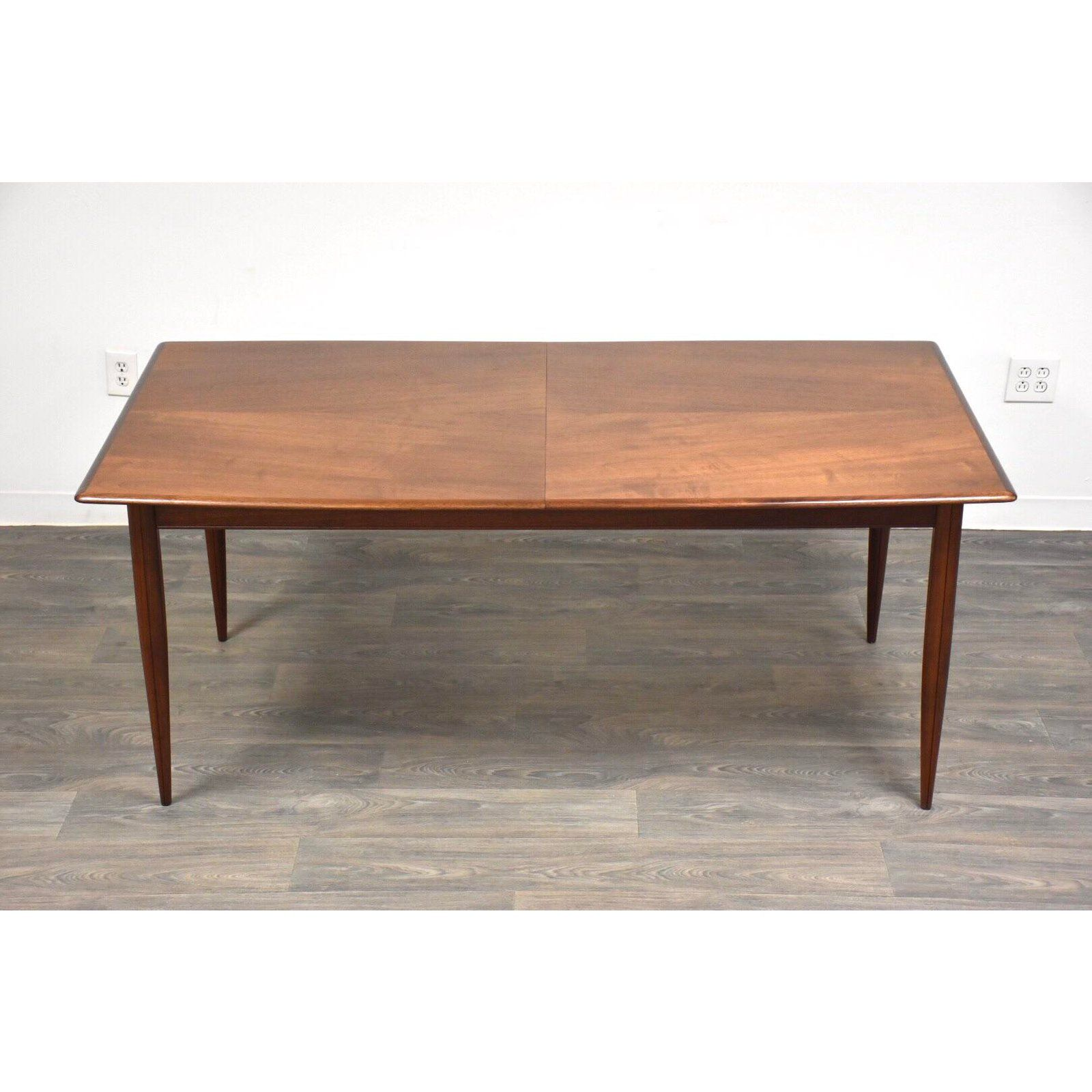 Walnut Butterfly Leaf Mid Century Dining Table Dining Table Mid