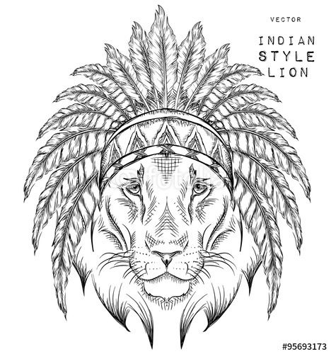 Download The Royalty Free Vector Quot Lion In The Indian Roach