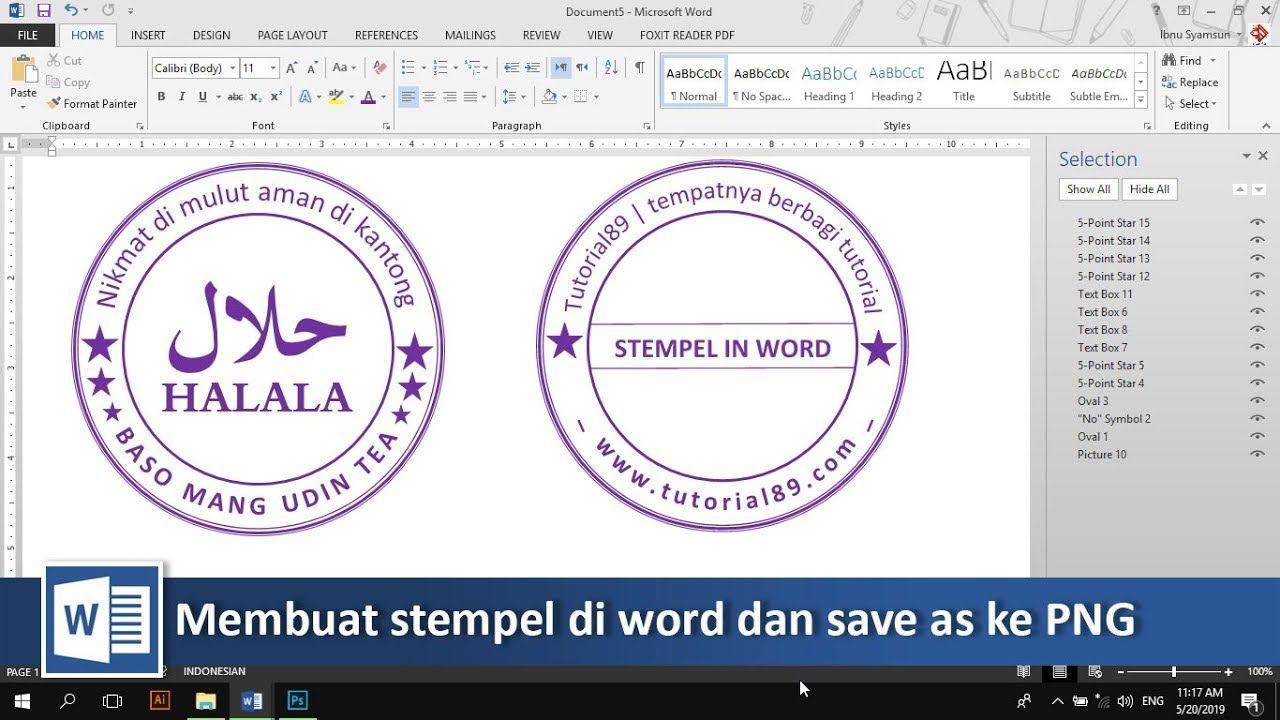 Mudahnya Membuat Stempel Di Word Dan Save As Ke Png Tutorial89 Tutorial Microsoft Word Di Tutorial Kali Ini Kita Akan Belajar Bagaiman Belajar Blog Tulisan