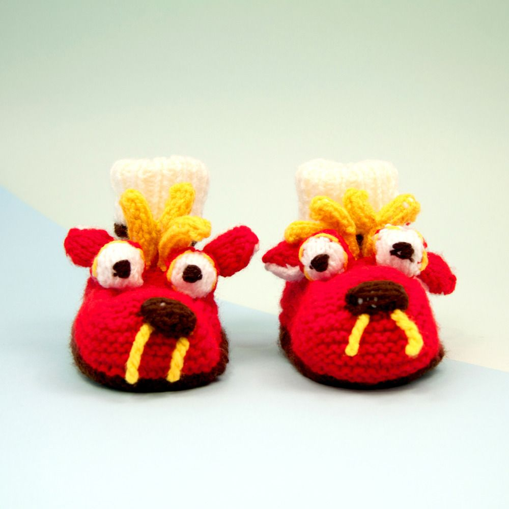 The Poundshop — Baby Booties-dragon