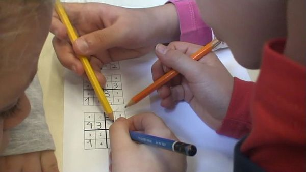 Cruciverba bambini ~ Sudoku per bambini schemi facili da stampare gratis