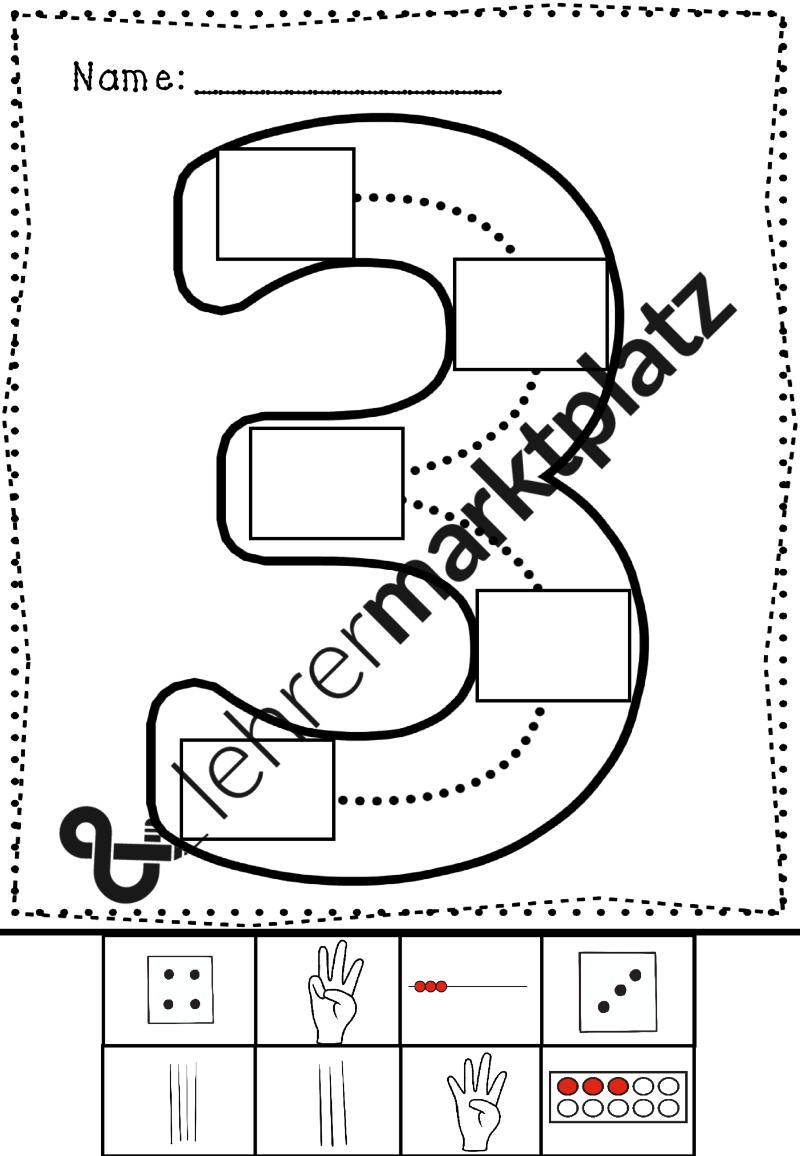 Mathe - Zahlen von 1 bis 9 Arbeitsblätter | Mathe in der Grundschule ...
