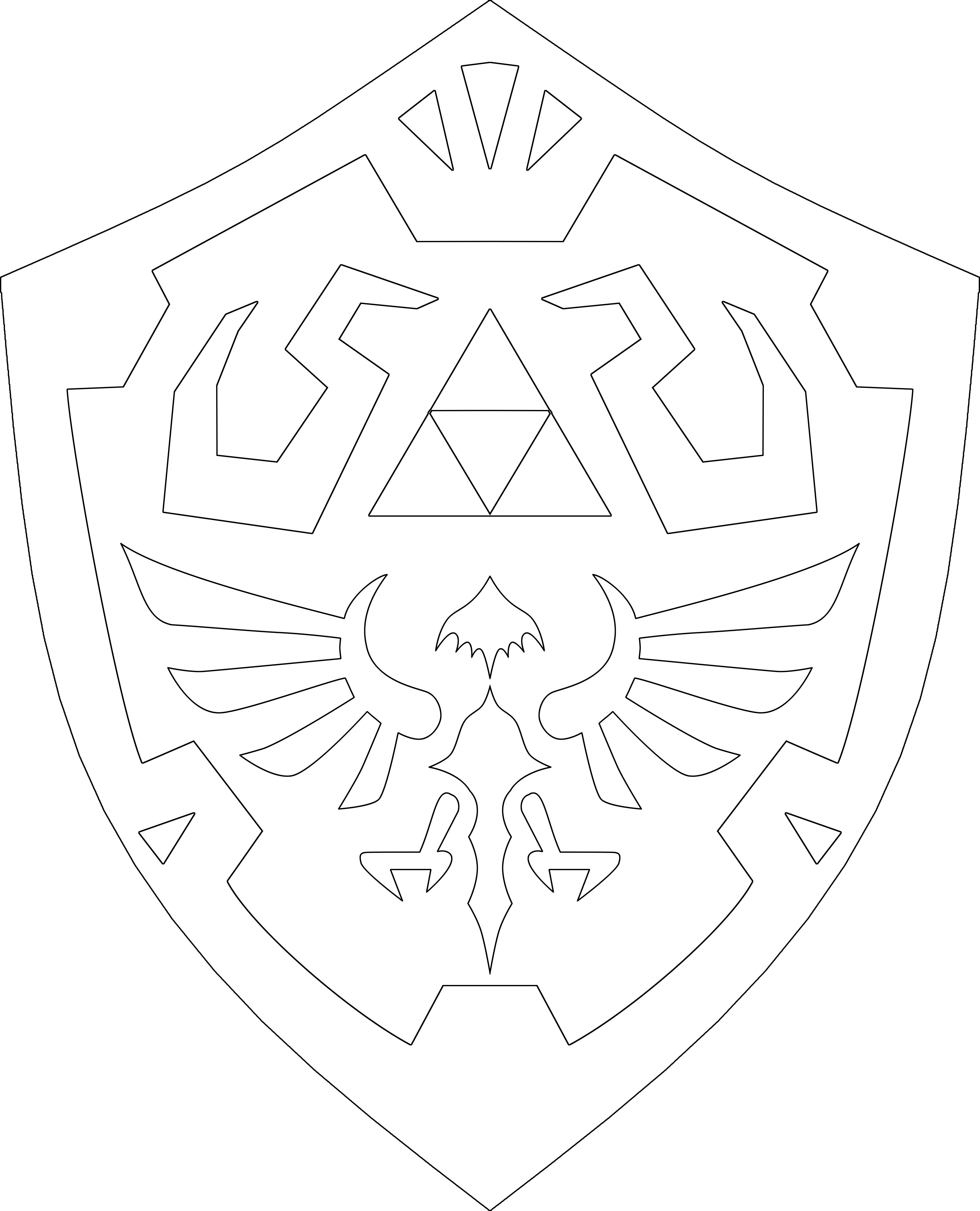 Zelda Shield Template Legend of Zelda Sword Shield