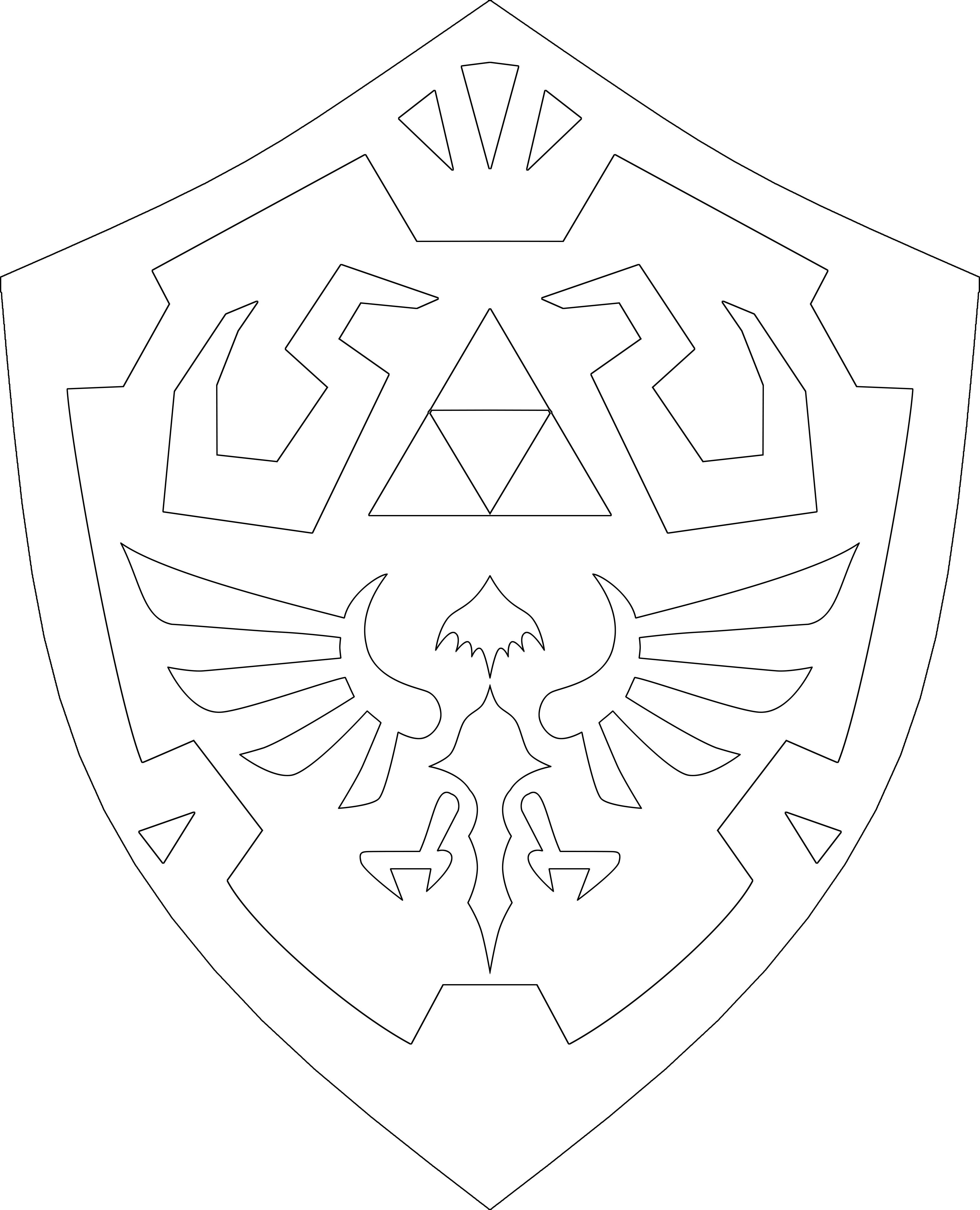 Zelda Shield Template Legend of Zelda Sword Shield