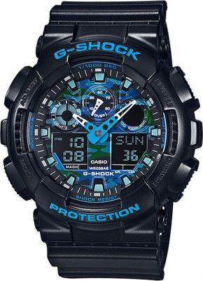 Casio G-Shock GA-100CB-1AER férfi karóra. Ezzel a modellel teljes a G-Shock  Cool Blue család. Mind a három sikerszériából készítettek ilyet.  Casio   Gshock ... ad10881eae
