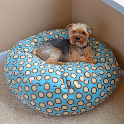 Pouf Diy Bed For Pets Fleece Dog Bed Diy Dog Bed Diy Pet Bed