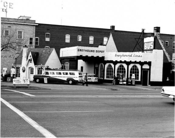 Greyhound Bus Station at 225 E  Pikes Peak - June 1965