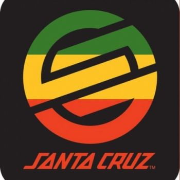 Santa cruz rasta knot logo 3 skateboard sticker at the shopping mall 2 97