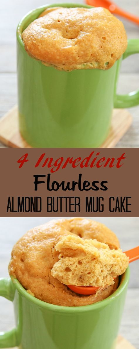 Flourless Almond Butter Mug Cake | Recipe | Low calorie ...