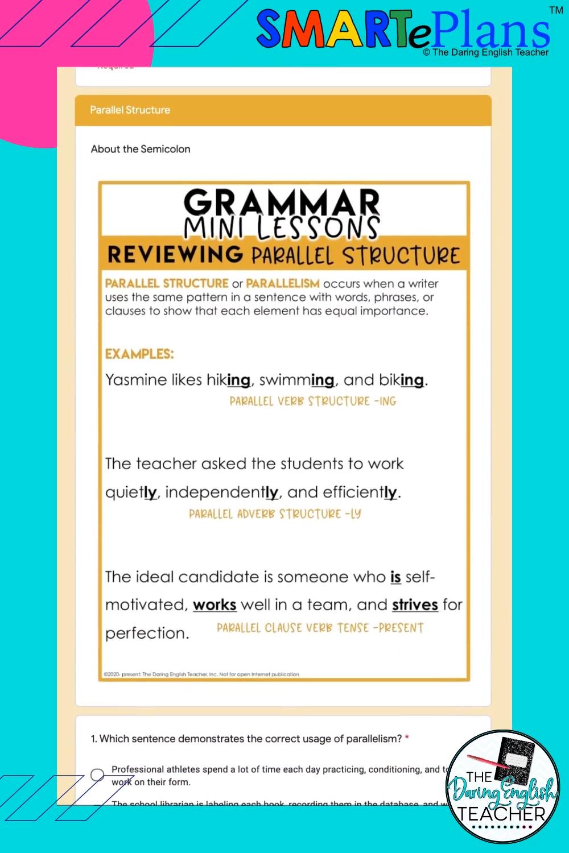 Remote Learning Mini Grammar Lesson Video Grammar Lessons Grammar Teaching High School English [ 1500 x 1000 Pixel ]