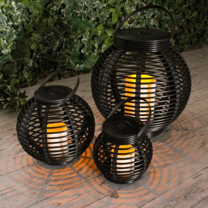 Solar Basket Voordeelset 3 Lampen Op Zonne Energie Solar Tuinverlichting Balkon Verlichting Tuinverlichting