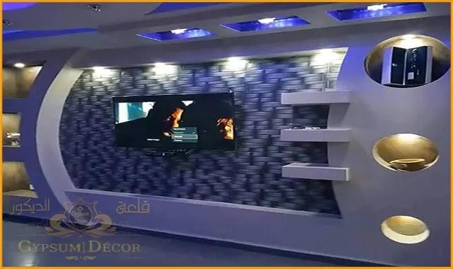 مكتبات جبس بورد كلاسيك 2021 Lcd Wall Design Tv Wall Design Wall Tv Unit Design