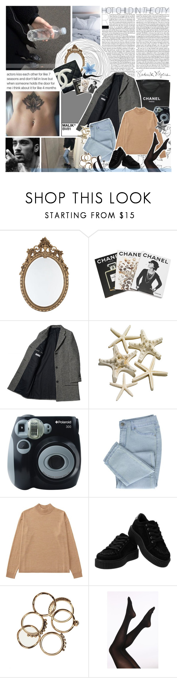 """HOT CHILD IN THE CITY /9/"" by emmas-fashion-diary ❤ liked on Polyvore featuring Chanel, Assouline Publishing, Polaroid and Uniqlo"