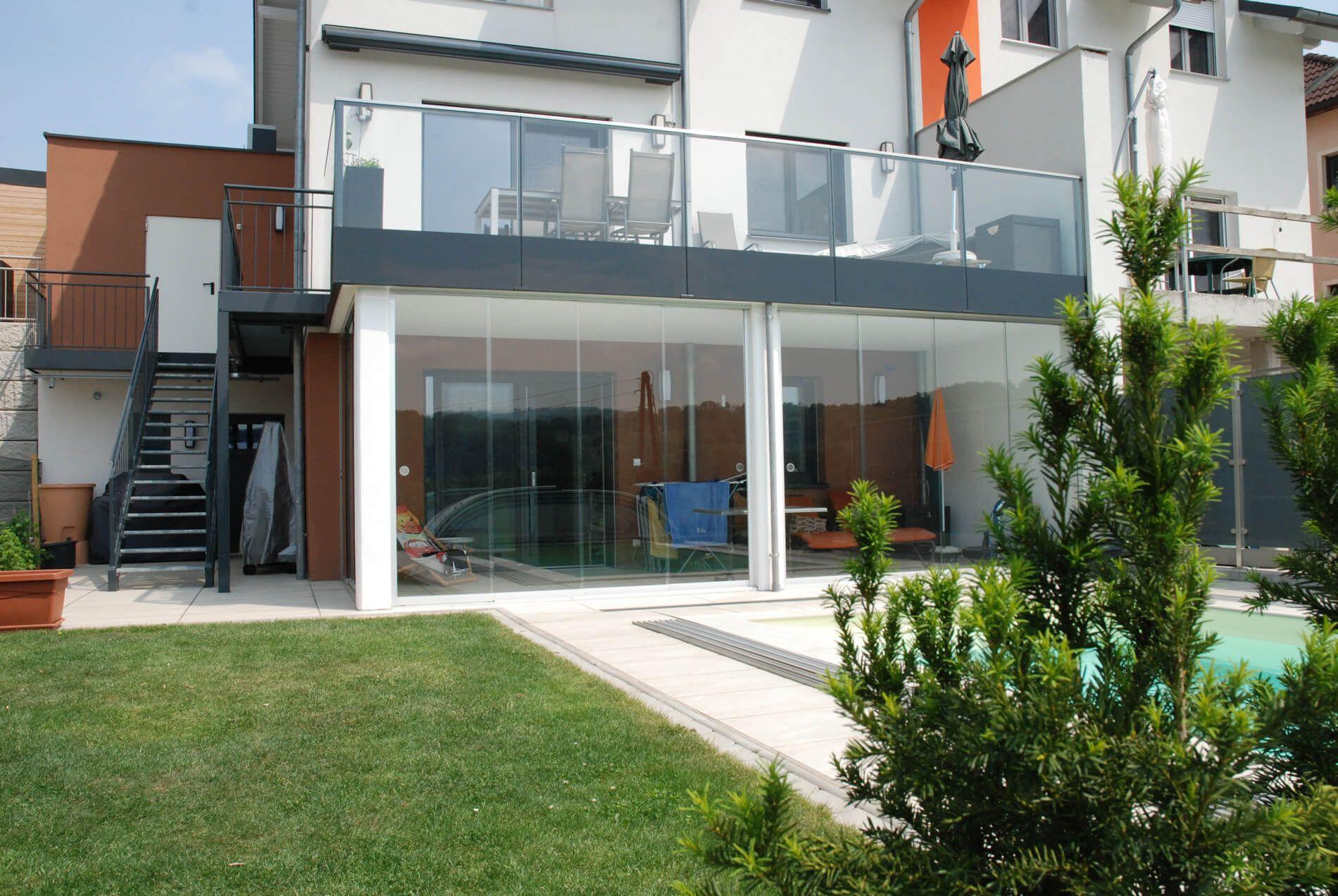Schiebeelemente für Terrasse und Balkon   Schiebewand, Anbau ...