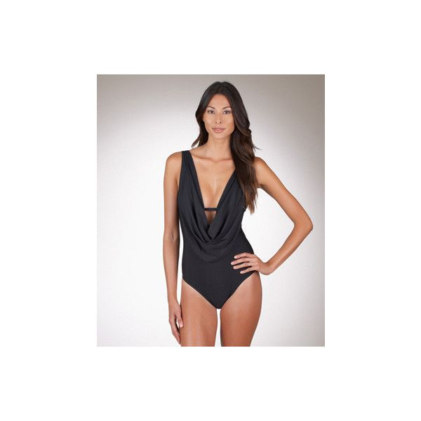 LUXE By Lisa Vogel Opening Night One Piece Bathing Suit ($115) ❤ liked on Polyvore