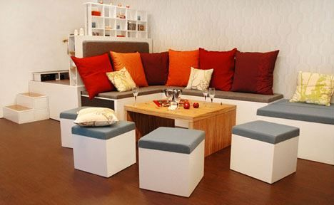 More seats for more guest All-in-One Modular Fold Out Living Room