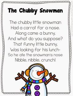 Geeky image within chubby little snowman poem printable