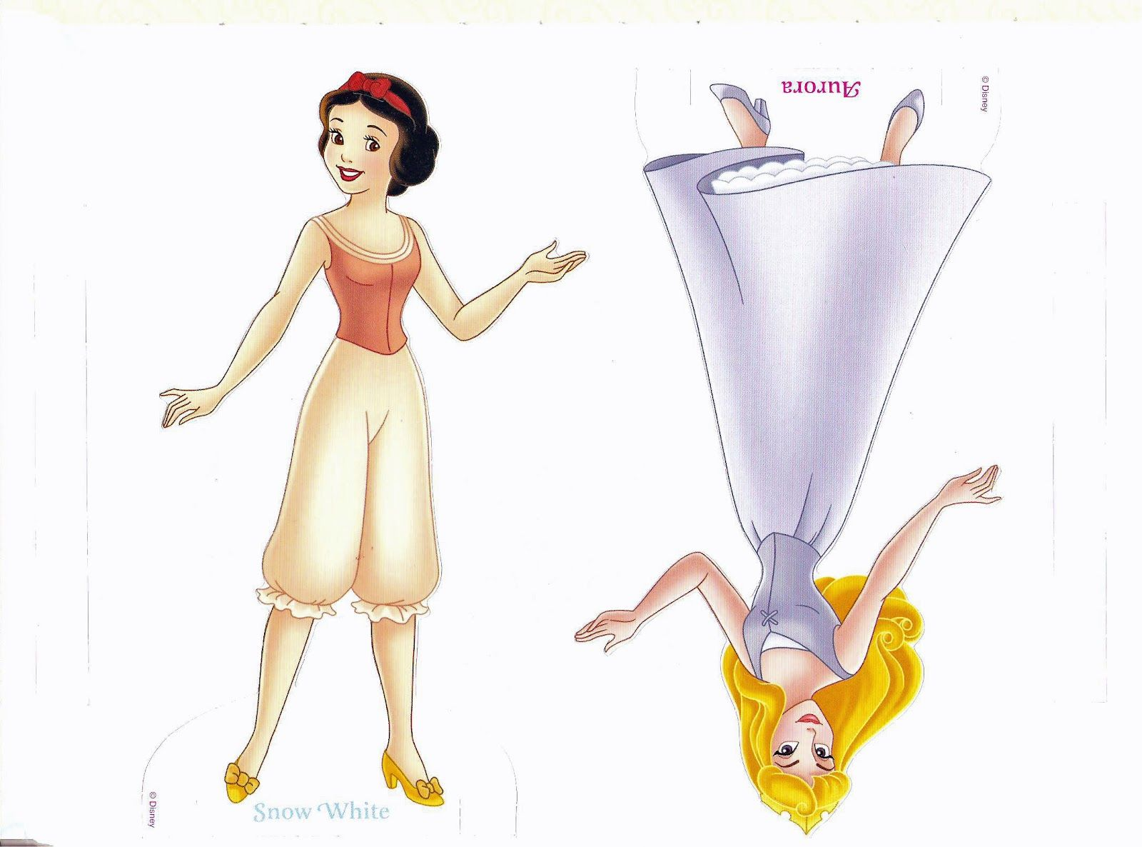 Dress up princess doll - Coloring Page Disney Prince And Princesses Paper Doll All Dressed Up Disney Princess Paper Dolls