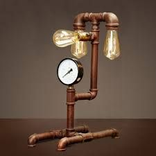 Image result for copper pipe lamp