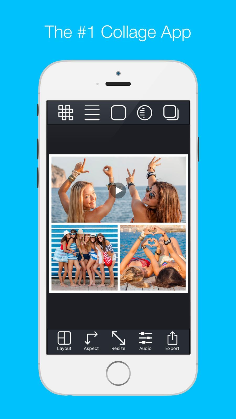 free app for video and picture collage