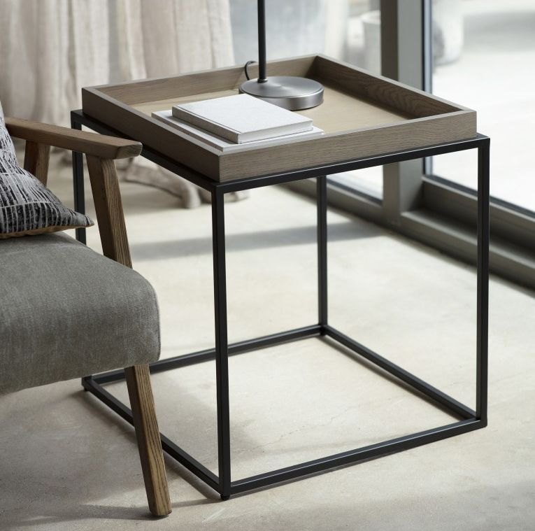 Gallery direct forden grey tray side table grey side