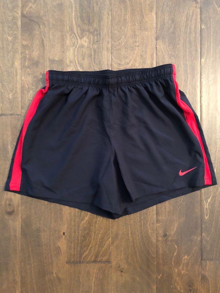 New Nike Dri-Fit Sideline Training Short Women/'s Medium Black Red 845786