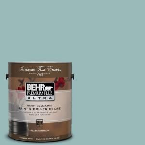 Behr Premium Plus Ultra 1 Gal Ppu12 6 Lap Pool Blue Flat Enamel Interior Paint 175401 The Home Depot Exterior Paint Behr Premium Plus Ultra Interior Paint
