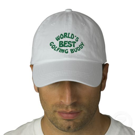 348aee41f78 Worlds Best Golfing Buddy Baseball Cap. Unique, funny and cool hat with