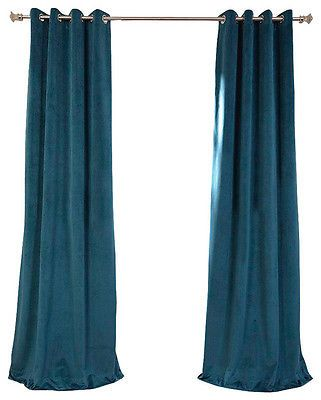 ikea 98 dark turquoise sanela curtains blackout grommet cotton velvet drape nop